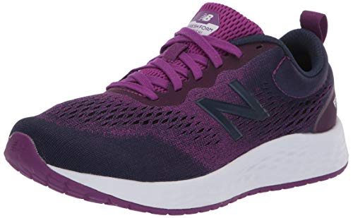 New Balance Women's Fresh Foam Arishi V3 Running Shoe, Plum/Natural Indigo/White, 7.5 B US