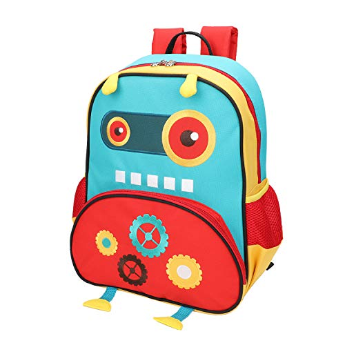 Yodo Little Kids School Bag Pre-K Toddler Backpack - Name Tag and Chest Strap, Robot
