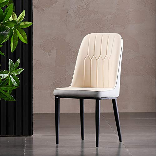 4pc Kitchen Dining Chair,Sofa Side Chair,Living Room Furniture Living Room Chair Home Office Design Chair Comfortable Padded Seat-Rice Ash And Black Feet 38 * 45 * 92(cm)