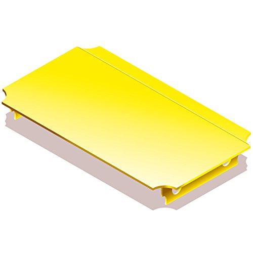 Quadro Platte 40x20 cm gelb