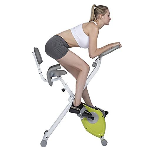 OUYA Bicicleta estática Vertical Plegable, Bicicleta de Ciclismo para Interiores Bicicleta estática Bicicleta estática reclinada, Uso físico en el hogar y la Oficina
