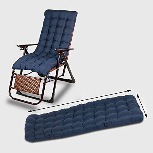 GLLSZ Indoor Outdoor Sitzkissen Hochlehner Gartenstuhl Liegenauflagen Sofa Kissen Dick Liegestuhl Stuhlkissen Ersatz Auflage Für Sonnenliege Dunkelblau 120x50cm(47x20inch)