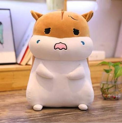 XXCKA Kissen braun Weißen Hamster Puppe plüschtier Bett Puppe Puppe Geburtstagsgeschenk 85cm