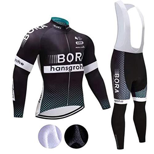 logas Abbigliamento Ciclismo Uomo Termico Inverno Tuta Bici Corsa PRO Maglia Manica Lunga + 3D Gel Salopette Pantaloncini
