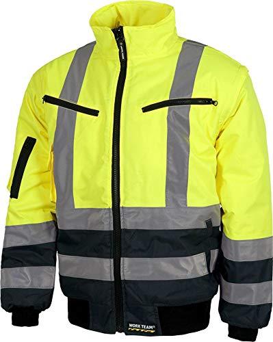 Work Team Piloto combinada Alta Visibilidad con Cintas Reflectantes. EN471. Hombre Amarillo A.V.+Marino XL