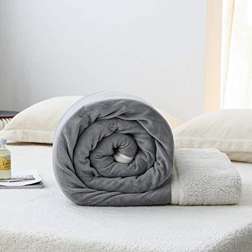 Boweike Mantas para Sofa, Mantas para Cama de Franela Reversible, Mantas Ligeras de 100% Microfibra - Fácil De Limpiar - Extra Suave Cálido -Gris-Plata_El 150 * 200cm
