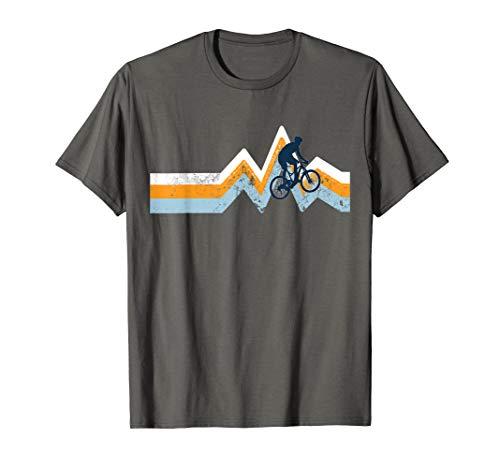 MTN Bike Shirt-Classic Mountain Bike Retro Colors Blue T-Shirt