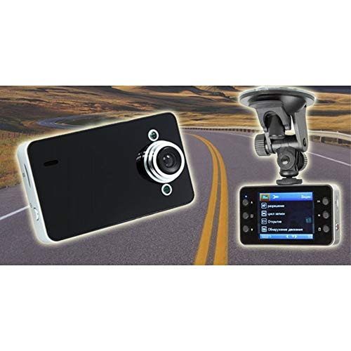 TradeShopTraesio - VIDEOCAMERA DVR per Auto Full HD 1080 Vehicle BLACKBOX con Supporto per Auto
