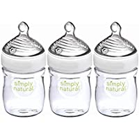 3-Pack NUK Simply Natural Baby Bottles, 5 Oz