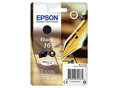 Epson original - Epson Workforce WF-2630 WF (16 / C13T16214012) - Tintenpatrone schwarz - 175 Seiten - 5,4ml