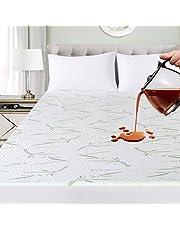 Ropa de Cama Utopía Premium 340 gsm 100% Impermeable Bambú Protector de colchón, Cubrecolchón, Transpirable, Estilo Ajustado Alrededor del elástico (135 x 190 x 30 cm)