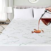 Utopia Bedding Protège Matelas en Bambou Imperméable - Drap Housse avec Bonnet Rabat 30 cm - Couvre Matelas