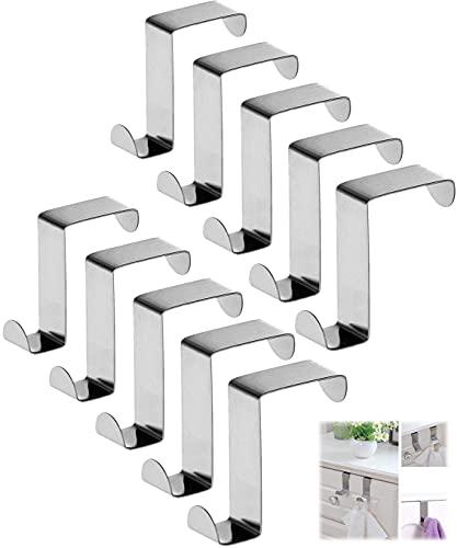 Tangyuan 10 piezas de grúas de puerta,ganchos de puerta reversibles,ganchos de puerta...