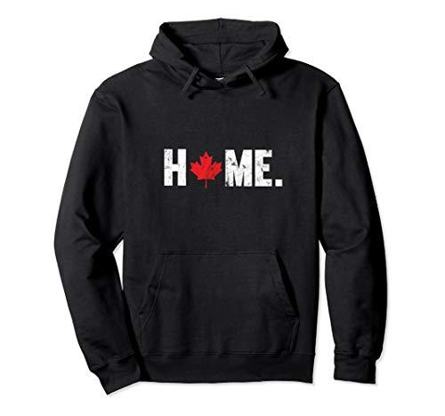 Home Canada Maple Leaf Distressed Hoodie Sweatshirt