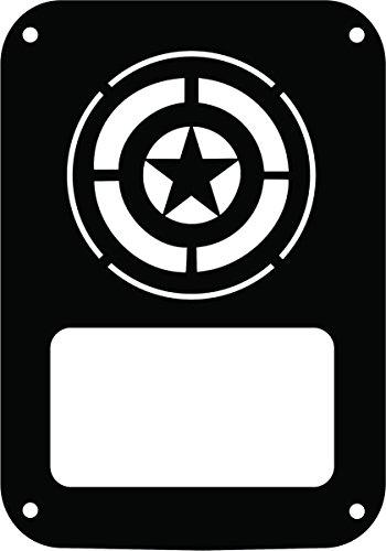 JeepTails Captain America Shield Tail lamp Light Covers Compatible with Jeep JK Wrangler - Black - Set of 2