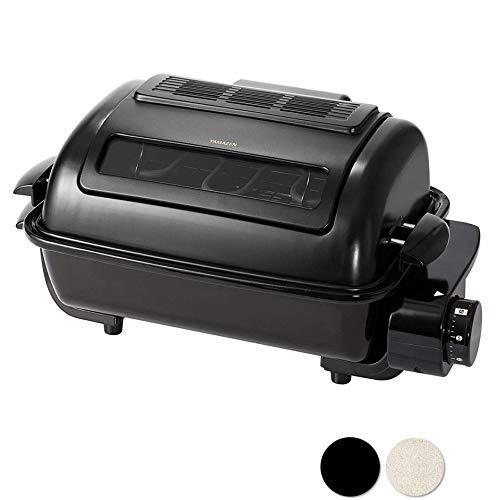 [山善]ワイドグリルフィッシュロースターマットブラックNFR-1100(MB)[メーカー保証1年]