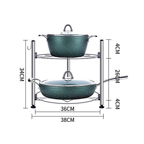 Afdruiprek/Vaat Droogrek 2-5-layer Cookware Vrijstaande Stainless Steel Pot Rack Soort vloer Corner Storage Shelf (Size : A)