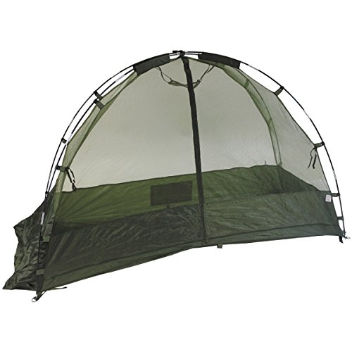 MFH Military Cot Mosquito Net Camping Travel to form of Curtain Green OD