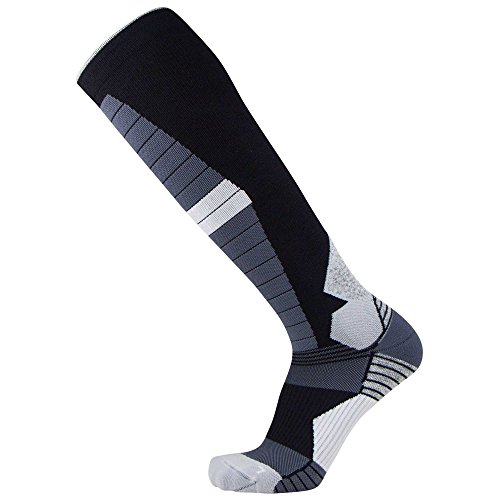 Compression Ski Socks Merino Wool – Thermal Warm Socks for Skiing, Snowboarding, OTC