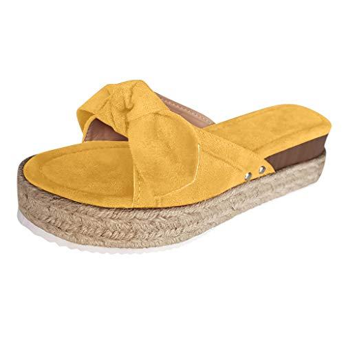 Eaylis Damen Lässige Hausschuhe Schuhe Bowknot Open Toe Plattformen Sandalen Hausschuhe Damen Wedges Schuhe Hausschuhe