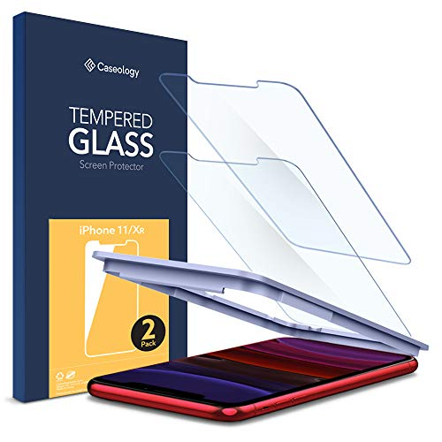 Caseology Tempered Glass for Apple iPhone 11 Screen Protector (2019) and iPhone XR (2018) - 2 Pack
