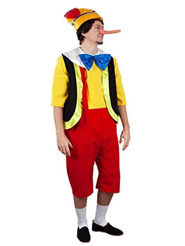 DISBACANAL Disfraz de Pinocho para Hombre - L