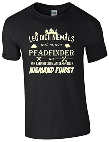 Leg Dich Niemals mit einem Pfadfinder an Shirt auch KINDERGRÖßEN (3XXL)