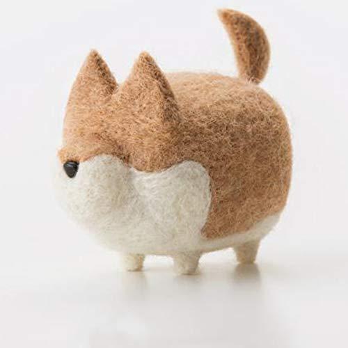 Truslin - DIY Needle Felting Kit with Gift Box Faceless Dog - Akita