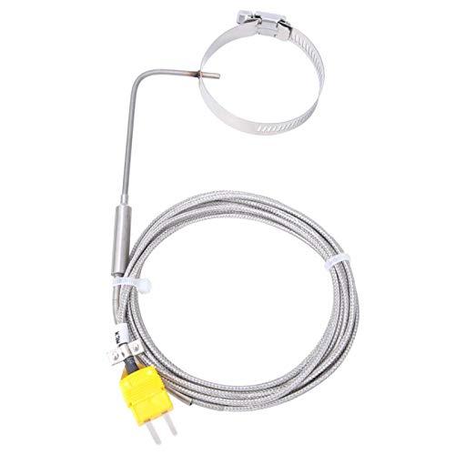 BWLZSP Capteur de température de Type K sonde de température Mobile en Acier Inoxydable Cercle rétractable avec Prise Jaune Ligne 3 mètres/9.8ft, capteur de température