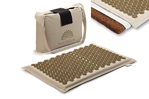 NOORSIDE Tapis d'acupression - Soulage mal de dos et de cervicales - tapis de massage et relaxation- écologique en fibre de coco,...