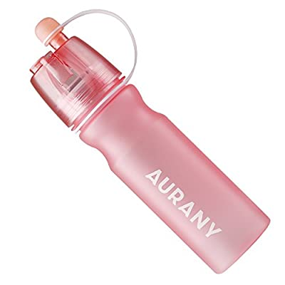 20oz Sport Spray Water bottle for Hot Summer and Travel AURANY