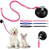 Frienda 4 Pieces Wash Dog Grooming Tub Restraint Set Include Dog Bathing Suction Cup Lead and Pet Bathing Tether Adjustable Dog Cat Fixed Safety Rope for Pet Bathing Grooming