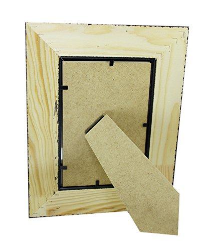 Portafotos de madera CMGdecor decorado a mano en Plata 409-60 (15 X 20 Cm): Amazon.es: Hogar