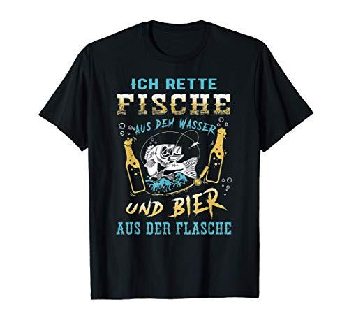 Ich Rette Fische Aus Dem Wasser Und Bier Aus Der Flasche T-Shirt