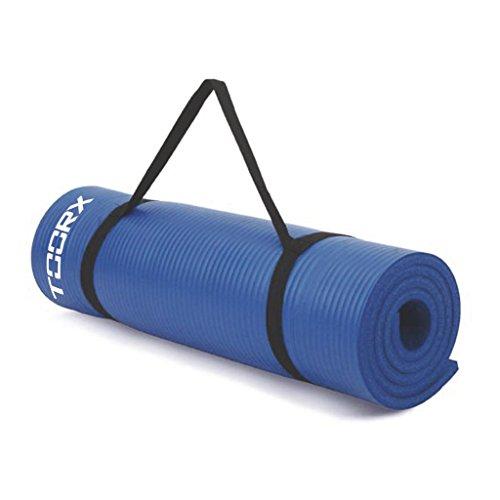 Toorx MAT-172PRO, Materassino Fitness con Occhielli Unisex Adulto, Blu, 63,5x55x33