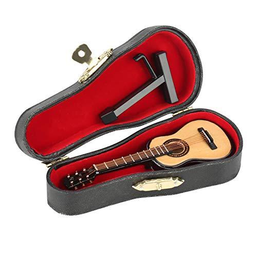 Emoshayoga Adornos de Madera para Manualidades, casa de muñecas, Instrumento Musical, Modelo de Guitarra, Adorno de casa para decoración del hogar