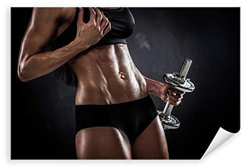 Postereck 3075 - Poster & Leinwand, Frau Fitness Sport Training Bodybuilding Größe Poster - 3:2-30.0cm x 20.0cm