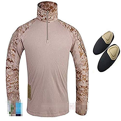 tactique militaire de l'armée de l'homme Paramilitaire Gen3 G3 Combat Chemise à manches longues avec Coudières pour airsoft Paintball Digital Desert Aor1, Digital Desert