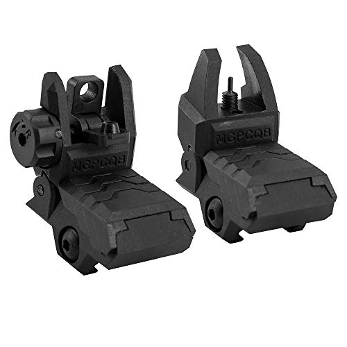 GVN Flip up Battle Iron Sights Front and Rear Sights For Picatinny Rail