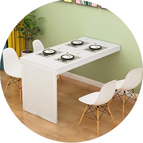 Tische Kaffeetische Wandklapptisch Teleskop Unsichtbare Wand Invisible for Wohnzimmer Esstisch Home Küchentisch (Color : White1, Size : 120 * 60 * 75cm)
