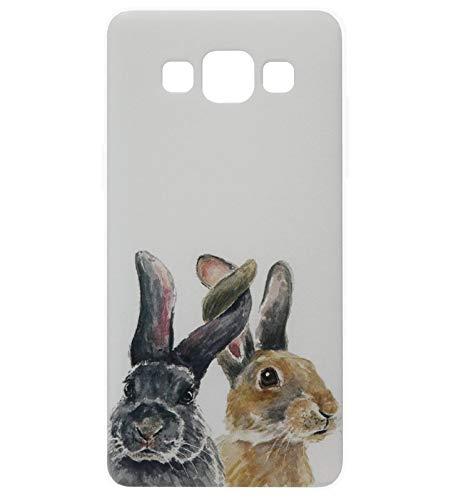 Adel Silicone TPU Back Cover Softcase Custodia Cellulare Compatibile con Samsung Galaxy A3 (2015) - Conigli