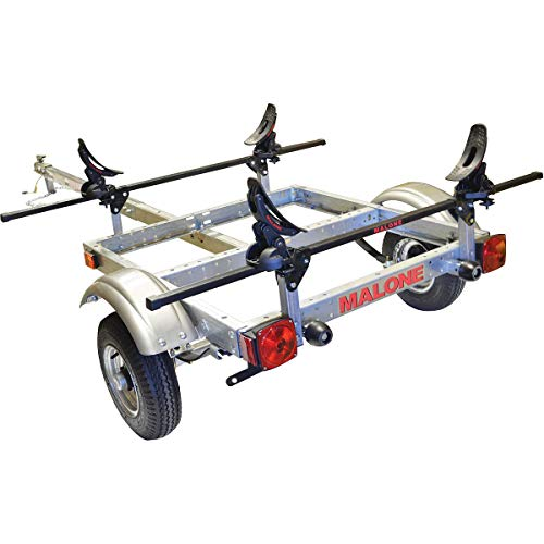 Malone XtraLight Trailer Package with 1 Saddle up Kayak Rack