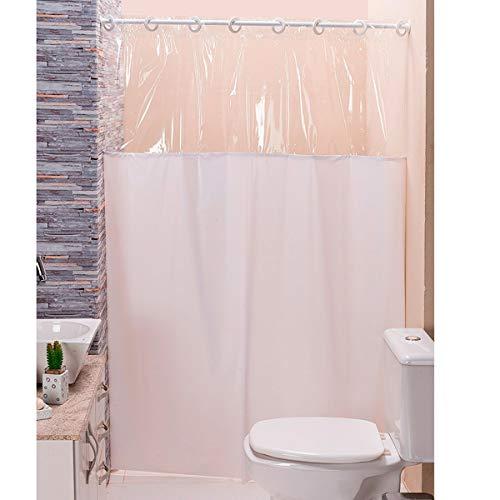 Cortina p/Box de Banheiro Branco 1,40m X 1,98m