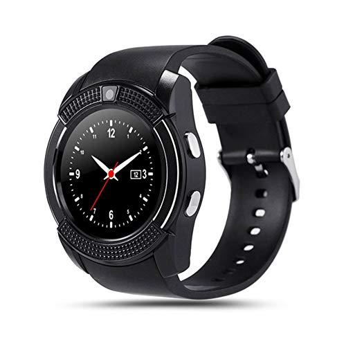 Los Deportes De Bluetooth del V8 Hombres del Reloj Inteligente Impermeable del Reloj Teléfono Móvil Relgio Smartwatch De Las Mujeres V8 con Ranura para Tarjeta SIM De La Cámara, Adecuada,A