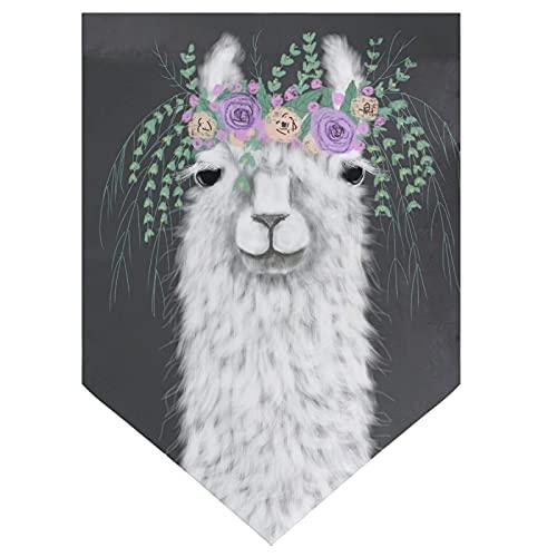 OMNHGFUG Llama - Guirnalda de flores para jardín, diseño de animales de doble cara, decoración para el hogar, patio, bandera al aire libre, 30 x 45 cm