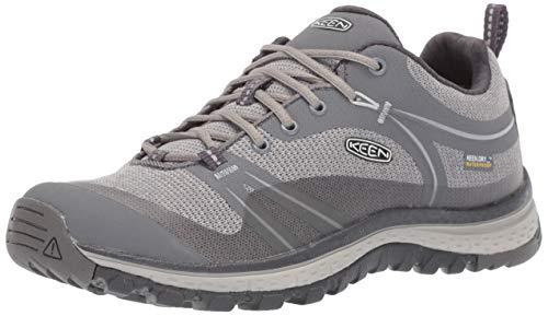 KEEN Women's Terradora Waterproof Hiking Shoe, Steel Grey/Magnet, 6 M US