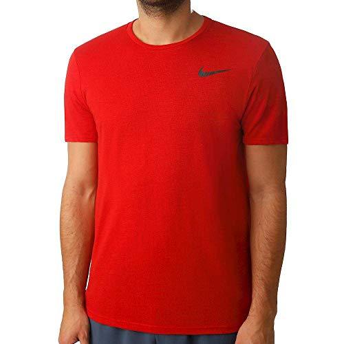 Nike Herren Dri-Fit Breathe T-shirt, University Red, XL