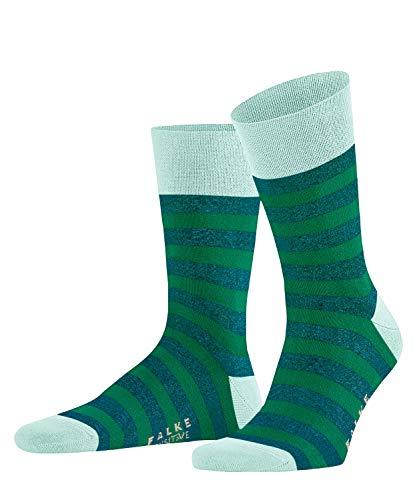 FALKE Herren Socken Sensitive Mapped Line, Baumwolle, 1 Paar, Grün (Moroccan Mint 7491), 39-42 (UK 5.5-8 Ι US 6.5-9)