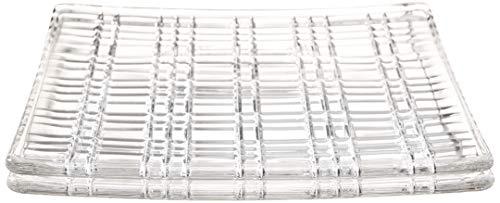 Spiegelau & Nachtmann Plat Carré 21 cm S, Verre en Cristal, Cristal Transparent, 21 x 21 x 1.8 cm, de 2 unités