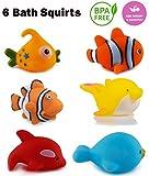 WISHKEY Chu Chu Bath Toys for Baby Aquatic Fish Animals Set of 6